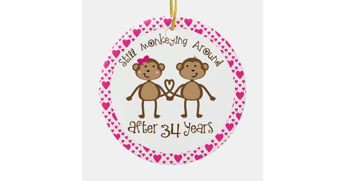 34th Wedding Anniversary Gifts: 34th Anniversary Gift Ornament