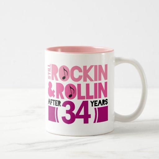 34th anniversary wedding gift coffee mugs zazzle