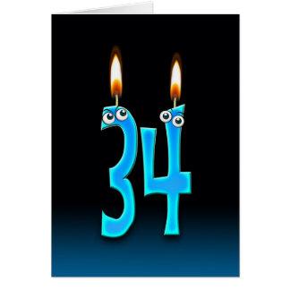 34th Birthday Candles Card