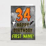 [ Thumbnail: 34th Birthday: Eerie Halloween Theme + Custom Name Card ]