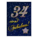 34th birthday for someone Fabulous Greeting Card