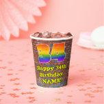 [ Thumbnail: 34th Birthday: Fun Graffiti-Inspired Rainbow 34 ]