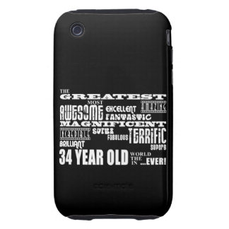 34th Birthday Party Greatest Thirty Four Year Old iPhone 3 Tough Covers