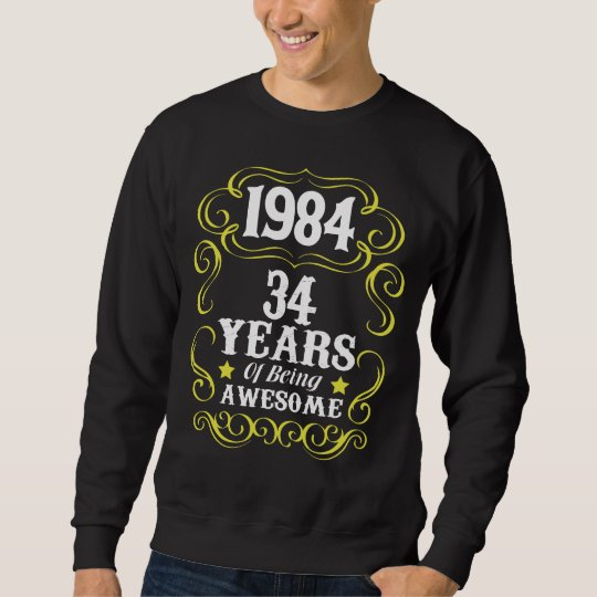 34th Birthday Shirt For Men Women