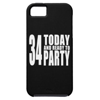 34th Birthdays Parties : 34 Today & Ready to Party iPhone SE/5/5s Case
