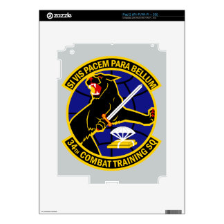 34th Combat Training Squadron Decal For The iPad 2