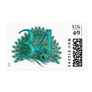 34th decorative artistic number stamps postage