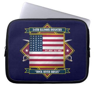 34th Illinois Volunteer Infantry Computer Sleeve