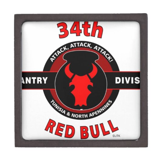 34th infantry division red bull gift box. Black Bedroom Furniture Sets. Home Design Ideas