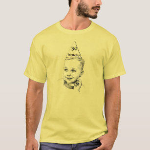 34th Or 27th 68th Customizable Birthday T Shirt
