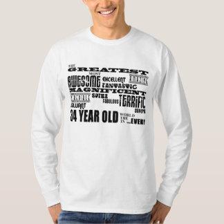 34to Años más grandes de la fiesta de cumpleaños Remera
