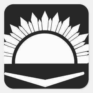 34to Brigada australiana de la infantería Calcomanía Cuadrada Personalizada