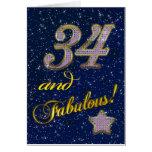 34to cumpleaños para alguien fabuloso tarjetas