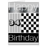 34to Cumpleaños Tarjetas