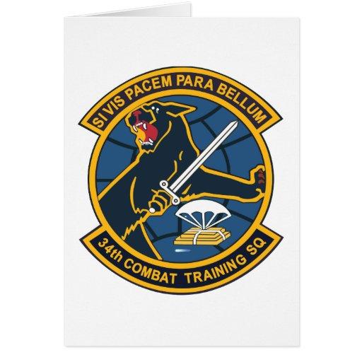 34to Escuadrilla del entrenamiento para el combate Tarjeta
