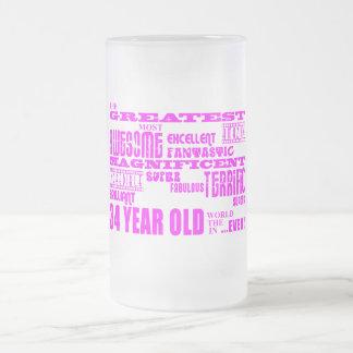 34tos cumpleaños treinta y cuatro más grande taza de cristal