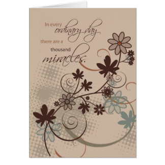 3501 milagros ordinarios del día tarjeta de felicitación
