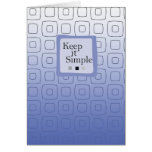 3507 Keep it Simple Squares Birthday Recovery Card