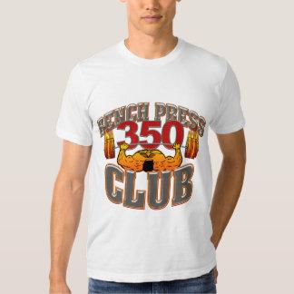 350 Club Bench Press Fitted TShirt