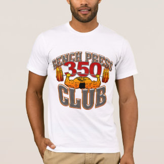 350 Club Bench Press Fitted TShirt