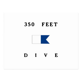 350 Feet Alpha Dive Flag Postcard