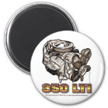350 LT1 Corvette Engine 2 Inch Round Magnet