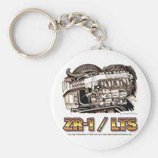 350 LT5 ZR1 Corvette Engine Basic Round Button Keychain