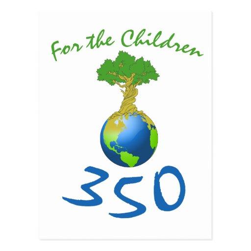350 para los niños tarjeta postal