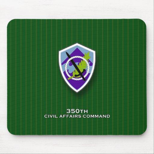 350o Comando SSI de los asuntos civiles Alfombrillas De Ratones