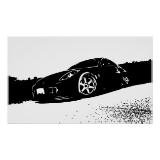 350z Front Stance Poster