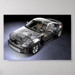 350Z Silver Internal Print