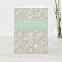 3511 Honest, Open Willing, Support Card