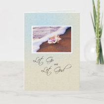 3513 Seashell on Beach Recovery Anniversary Card