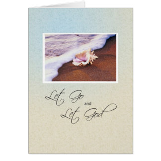 3513 Seashell on Beach Recovery Anniversary Greeting Card
