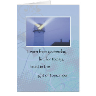 3514 Lighthouse Recovery Support Greeting Cards