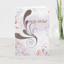 3515 Let Go, Let God Swirls Recovery Anniversary Card