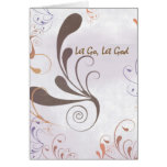 3515 Let Go, Let God Swirls Recovery Anniversary Greeting Card