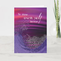 3518 Thine Own Self Be True Recovery Anniversary Card