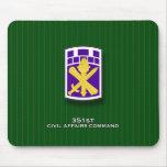 351o Comando SSI de los asuntos civiles Alfombrillas De Ratón