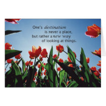 3521 Tulips Destination Recovery Encouragement Card