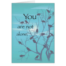 3522 Not Alone Birds Recovery Support Card
