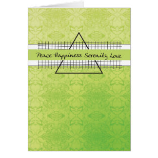 3523 Peace Happiness Recovery Birthday Greeting Card