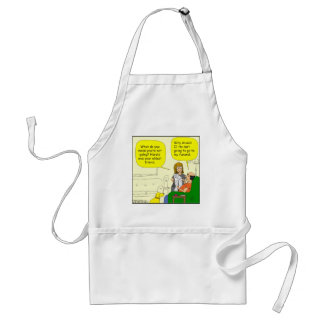 352 he isnt going to my funeral Cartoon Adult Apron