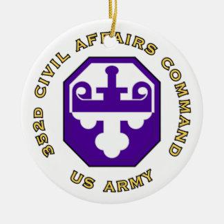 352d Civil Affairs Command Ceramic Ornament