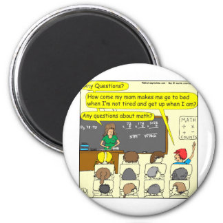 353 Any questions about math color cartoon Magnet