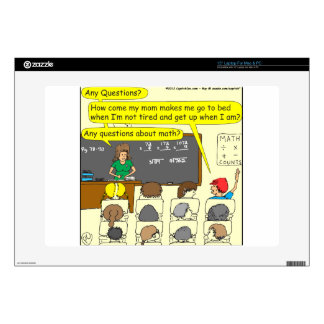 353 Any questions about math color cartoon Laptop Decal