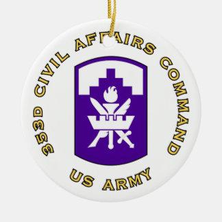 353d Civil Affairs Command Ceramic Ornament