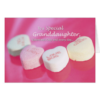 3544 Valentine Heart Candy Granddaughter Card