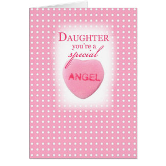 3547 Daughter Valentine Angel Card