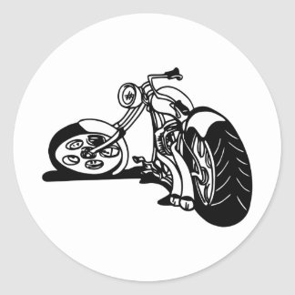 354 Chopper Bike Round Stickers